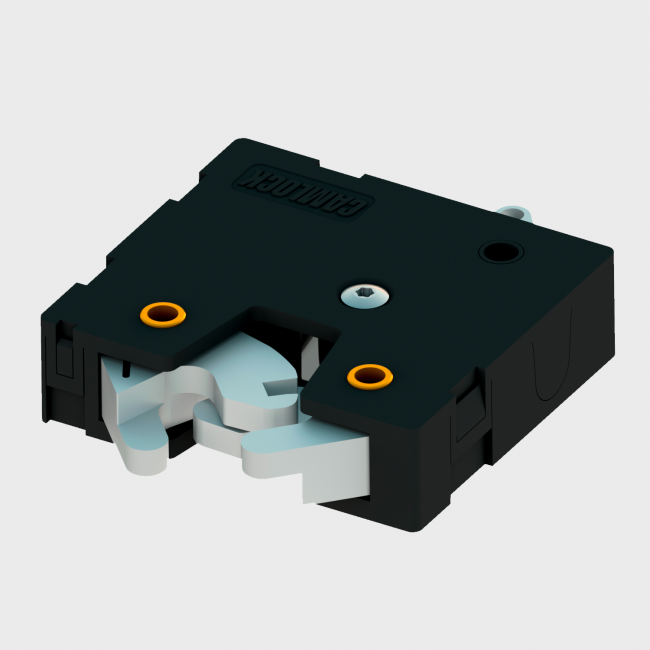Series 100 - Patented Rotary Latch, with dual stainless steel jaws and a geared motor